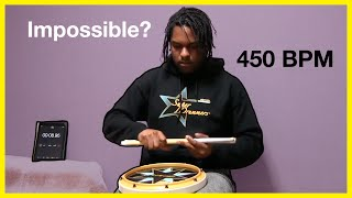 Impossible 450 bpm Double Stroke Roll