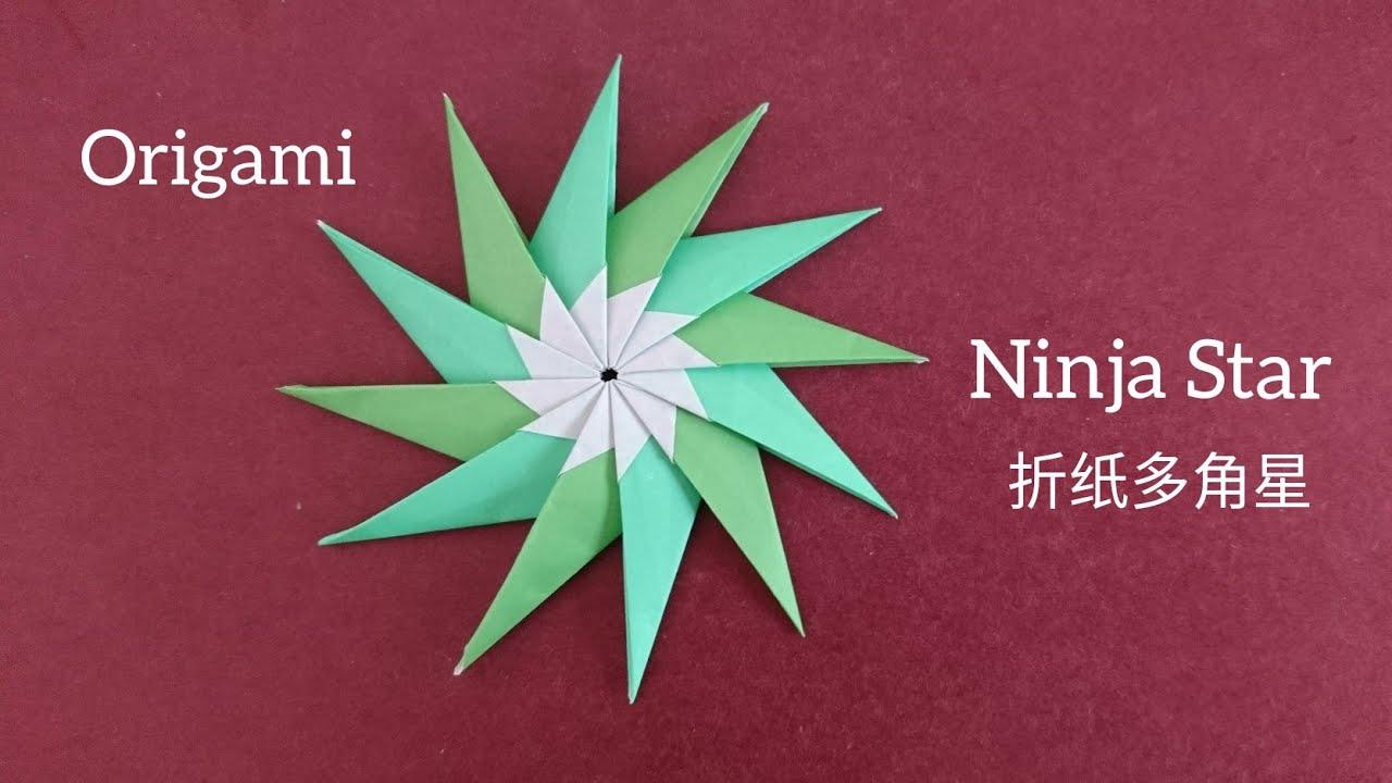 Origami Ninja Star Tutorial   Origami stars, Origami, Origami easy   720x1280