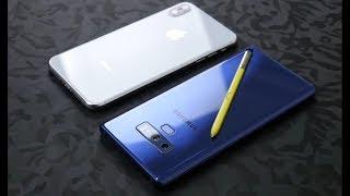 مقارنة شاملة بين Note 9 و Iphone XS max مواصفات نوت ٩ و ايفون اس اكس ماكس
