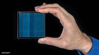 تخزين البيانات على الزجاج تقنية رهيبة من مايكروسوفت ...