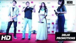 Salman Khan, Sooraj Pancholi, Athiya Shetty in Delhi   Hero Promotions