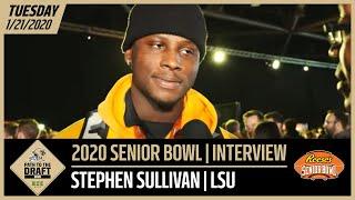 LSU TE Stephen Sullivan 2020 Senior Bowl Interview | New Orleans Saints
