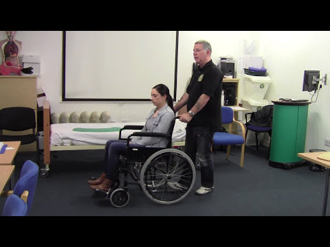 Push And Pull With The Wheelchair - Patient Moving & Handling