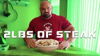 STRONGMAN MEALS TO GO | 2LBS OF STEAK  | BRIAN SHAW