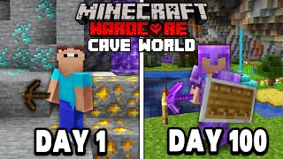 I Survived 100 Days of Hardcore Minecraft, In a Cave Only World... Here's What Happened