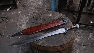Forging a Bronze Age style sword, the complete movie.