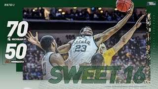 Michigan State vs. Minnesota: Second round NCAA tournament extended highlights