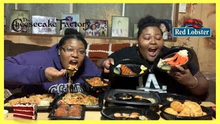 The Cheesecake Factory + Red Lobster Mukbang | Eating Our Favorite Foods | DeLexisEats