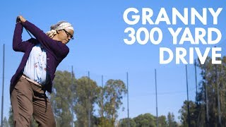 Granny hits 300 yard drive