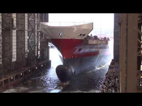 Lancement du navire FSG numéro 757, l'Océnex Connaigra