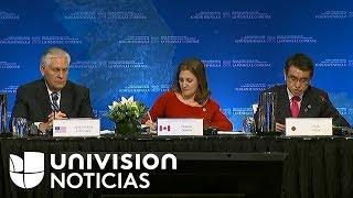 Palabra de apertura de Rex Tillerson en reunión de ministros en Canadá