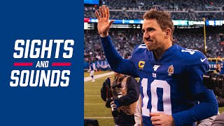 EMOTIONAL Sights & Sounds from Eli Manning's Salute in MetLife Stadium  | Giants vs. Dolphins