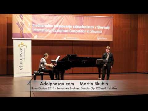 Martin Skubin - Nova Gorica 2013 - Johannes Brahms - Sonata Op 120 no2 1st Mov