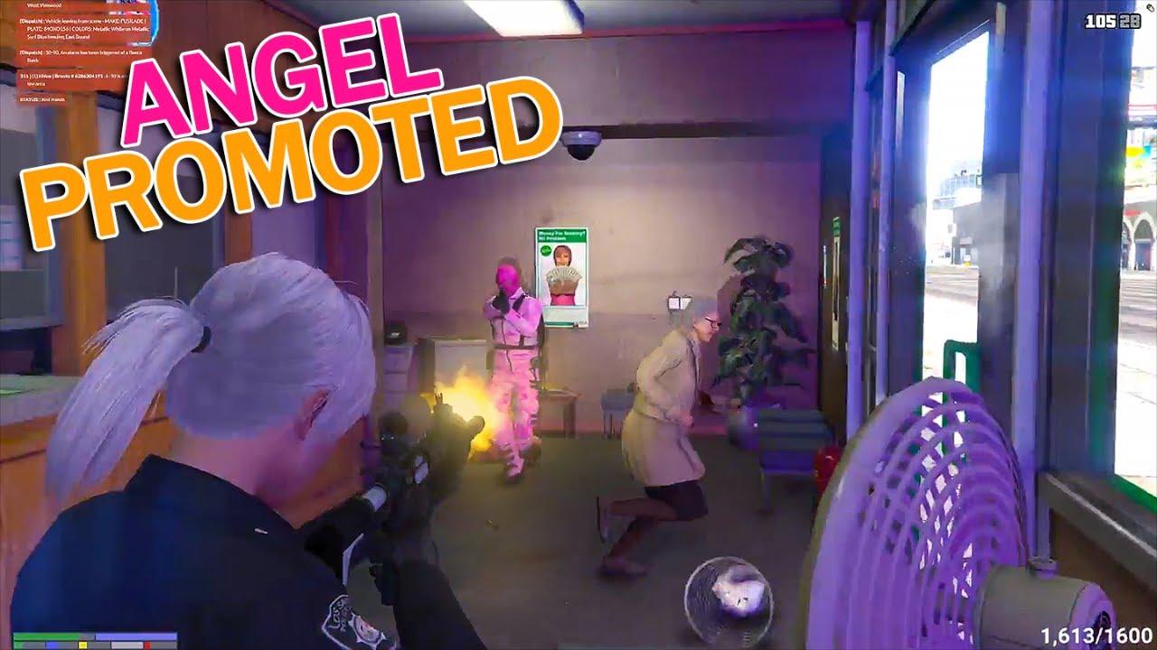 OFFICER ANGEL BANK SHOOTOUT, JESUS WITNESSES ERP | GTA 5 RP NoPixel Funny  Moments & Highlights 49