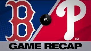 Vazquez, Benintendi strike late to lift Sox   Red Sox-Phillies Game Highlights 9/14/19