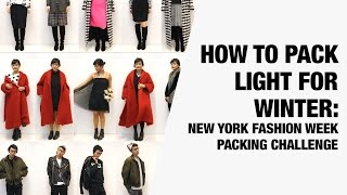 How to Pack Light for Winter - New York Winter Packing Challenge | Chictopia