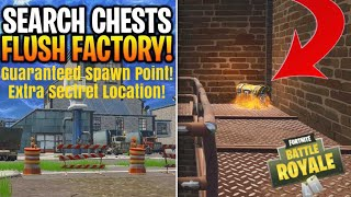 *NEW* Extra Secret Guaranteed Chest Spawn at Flush Factory {Epic Games Glitch} (Fortnite Tutorial)