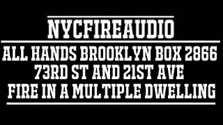 NYCFireAudio - Brooklyn All Hands Box 2866  - Fire In A Multiple Dwelling  - 12/10/17