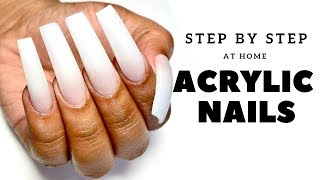 STEP BY STEP ACRYLIC NAILS AT HOME - HOW TO DO PROFESSIONAL NAILS AT HOME - MATERIALS