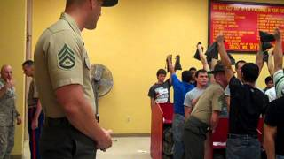 Marine Recruits Arrive at MCRD