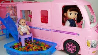 Baby doll bus camping car toys Orbeez pool Picnic play - 토이몽