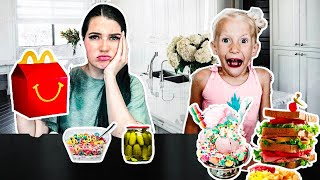 SWiTCHiNG DiETS with a 6 YEAR OLD for 24 HRS!