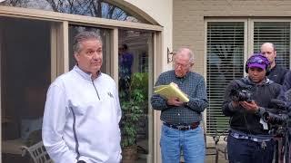 Kentucky Basketball John Calipari Post Selection Show