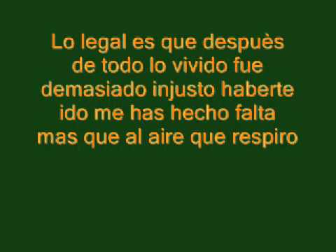 El Bebeto - Lo Legal. (Con letra)