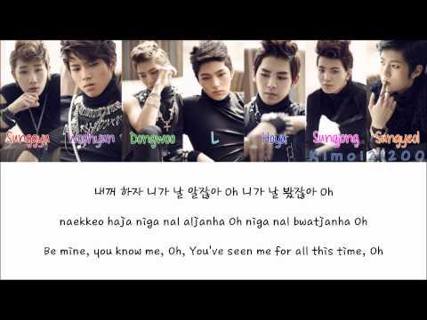 Infinite - Be Mine (내꺼 하자) [Hangul/Romanization/English] Color & Picture Coded HD