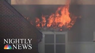 Massive Inferno Erupts At D.C. Senior Living Apartment Complex | NBC Nightly News