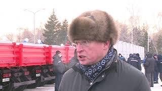 Новыми спецмашинами пополнился автопарк омского предприятия энергоснабжения