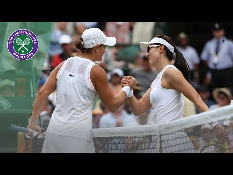 Ash Barty vs Saisai Zheng Wimbledon 2019 first round highlights