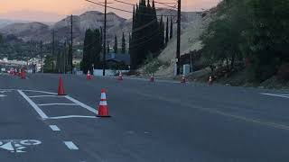 Creek Fire - Sunland Shadow Hills - Foothill Blvd.  Dec. 06 2017 Evacuation Street Closures