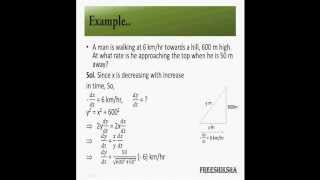 Differentiation:Using Derivative to measure rate of Change IIT JEE MAINS ADVANCED MATHS