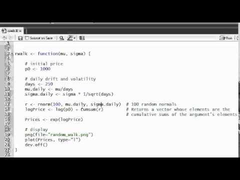 R programming: Intro: Simulate lognormal random walk