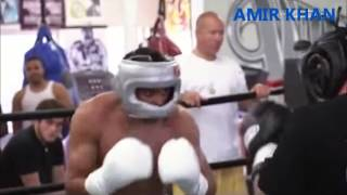 Boxing Super Star Amir Khan in a brutal spar Wild Card Gym