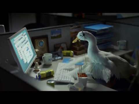 Aflac Duck Working Overtime