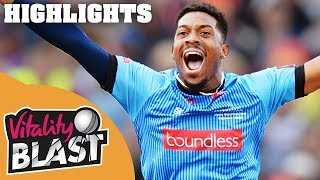 Wright Smashes Sussex to Final | Sussex v Somerset | Vitality Blast 2018 - Highlights - YouTube
