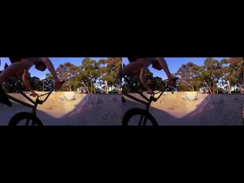 3D GoPro wifi test (wide base) - 3D BMX Five Dock Bowl