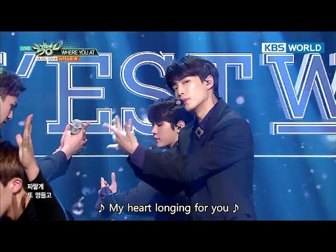 NU'EST W (뉴이스트 W) - WHERE YOU AT [Music Bank HOT Stage / 2017.10.20]