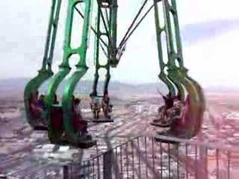 Zip Line Harness >> Stratosphere Insanity ride - YouTube