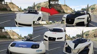 GTA 5 | TRUFFADE NERO VS X80 PROTO VS PFISTER 811 VS ADDER VS BANSHEE 900R