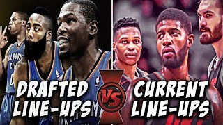 Comparing Every NBA Team's Current Starting Lineup To Their Lineups With Players They Drafted