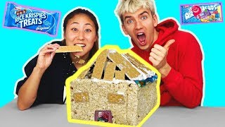 DIY EDIBLE BOX FORT!! (YOU CAN EAT 🍫)