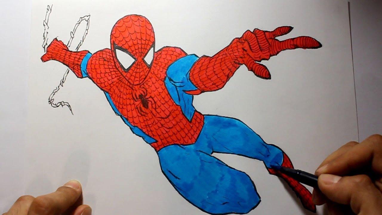 wie zeichnet man spiderman marvel tutorial  youtube