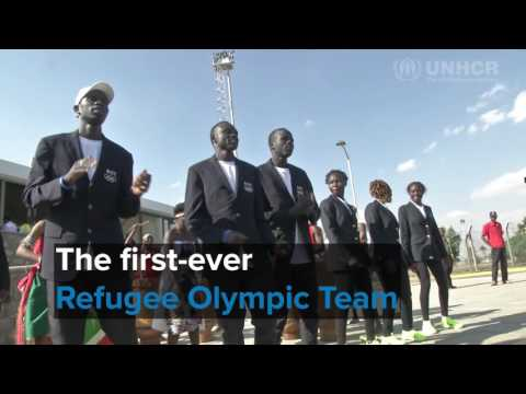 Drums, hugs and tears of joy as refugee Olympians land back in Kenya