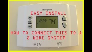 How to Install Honeywell digital thermostat controller 2 wire Convert from mercury switch