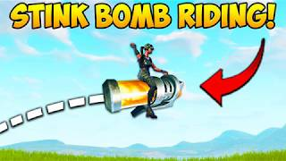YOU CAN RIDE STINK BOMBS..?! - Fortnite Funny Fails and WTF Moments! #232 (Daily Moments)