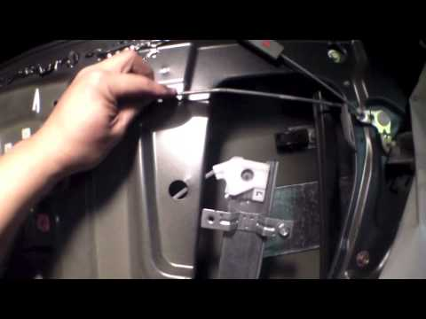 How To Replace Rear Window Regulator Motor 2004 Honda