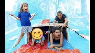 Don't WATER SLIDE through the WRONG MYSTERY BOX!!! Who wins?!